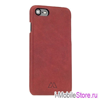 Кожаный чехол Moodz Soft Leather Hard для iPhone 7/8/SE 2020, Rossa