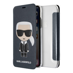 Чехол Karl Lagerfeld Iconic Karl Booktype для iPhone XR, синий