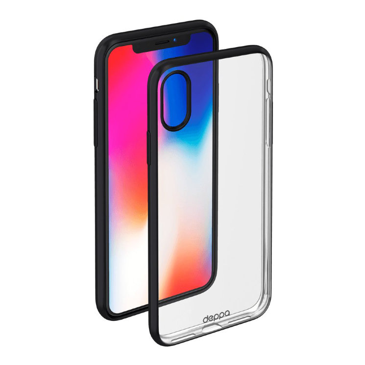 Чехол Deppa Gel Plus для iPhone X/XS, черный