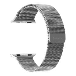 Ремешок Deppa Band Mesh для Apple Watch 42-44 mm, серебристый