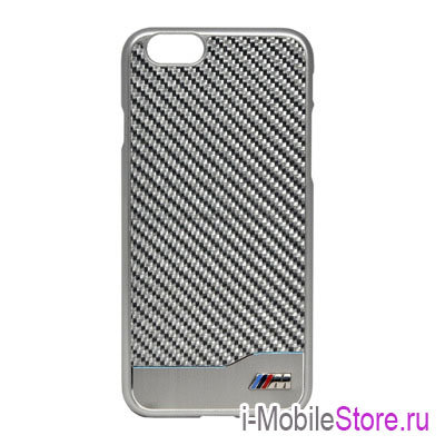 Чехол BMW M Collection Hard Aluminium Carbon для iPhone 6/6s, серебристый