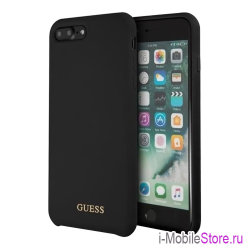 Чехол Guess Silicone для iPhone 7 Plus/8 Plus, черный