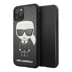 Чехол Karl Lagerfeld PU Leather Iconic Karl Hard для iPhone 11 Pro Max, черный