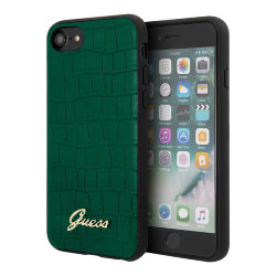 Чехол Guess Animal Croco with metal logo Hard для iPhone 7/8/SE 2020, зеленый