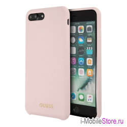 Чехол Guess Silicone для iPhone 7 Plus/8 Plus, Light Pink