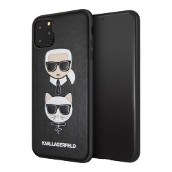 Чехол Karl Lagerfeld PU Leather Karl and Choupette Hard для iPhone 11 Pro Max, черный