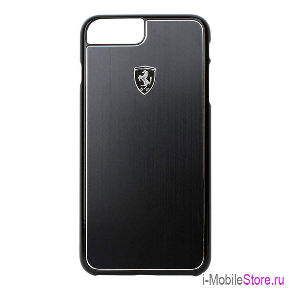Чехол Ferrari Heritage Aluminium Hard для iPhone 7 Plus/8 Plus, черный