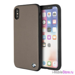 Кожаный чехол BMW Signature Hard для iPhone X/XS, Mocca