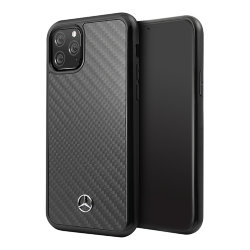 Карбоновый чехол Mercedes Dynamic Real Carbon Hard для iPhone 11 Pro Max, черный