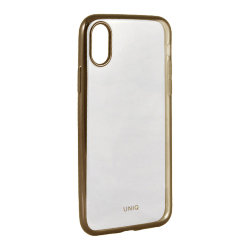 Чехол Uniq Glacier Glitz для iPhone XS Max, Blush Gold