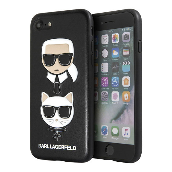 Чехол Karl Lagerfeld Karl and Choupette Hard для iPhone 7/8/SE 2020, черный