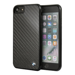 Чехол BMW Signature Real Carbon Hard для iPhone 7/8/SE 2020, черный
