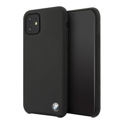 Чехол BMW Signature Liquid Silicone для iPhone 11 Pro Max, черный
