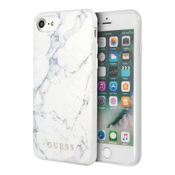 Чехол Guess Marble Design Hard для iPhone 7/8/SE 2020, белый