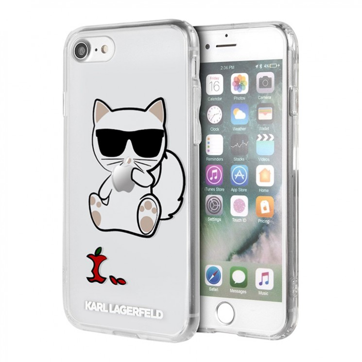 Чехол Karl Lagerfeld Choupette Apple Hard Transparent для iPhone SE 2020