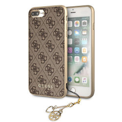 Чехол Guess 4G Charms Hard для iPhone 7 Plus/8 Plus, коричневый