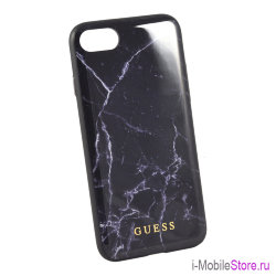 Чехол Guess Marble Collection Hard для iPhone 7/8/SE 2020, черный