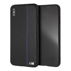 Чехол BMW M Collection Carbon Inspiration Hard для iPhone XS Max, Navy/Black