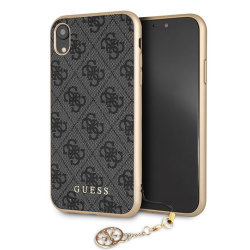 Чехол Guess 4G Charms Hard для iPhone XR, серый