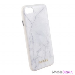 Чехол Guess Marble Collection Hard для iPhone 7/8/SE 2020, белый