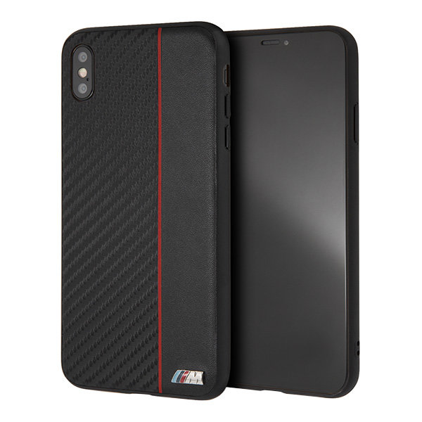 Чехол BMW M Collection Carbon Inspiration Hard для iPhone XS Max, Red/Black