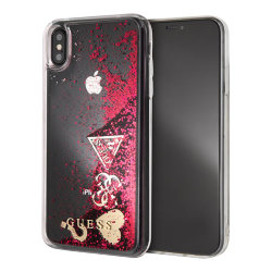 Чехол Guess Glitter для iPhone X/XS, Raspberry