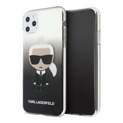 Чехол Karl Lagerfeld Iconic Karl Hard Gradient для iPhone 11 Pro Max, черный