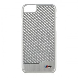 Чехол BMW M-Collection Aluminium Carbon Hard для iPhone 7/8/SE 2020, серебристый