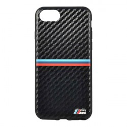 Чехол BMW M-Collection Carbon Inspiration Hard для iPhone 7/8/SE 2020, черный