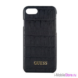 Чехол Guess Croco Hard для iPhone 7/8/SE 2020, черный