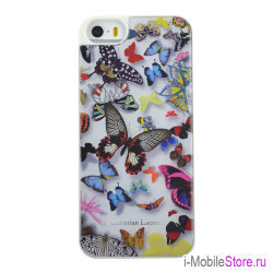 Чехол Christian Lacroix Butterfly Hard для iPhone 5s/SE, белый