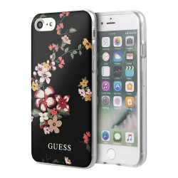 Чехол Guess Flower Hard Shiny N.4 Black для iPhone 7/8/SE 2020