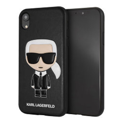 Чехол Karl Lagerfeld Iconic Karl Hard для iPhone XR, черный