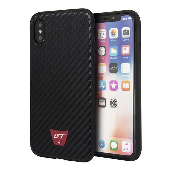 Чехол Maserati Gransport Trofeo Hard Carbon для iPhone X/XS, черный