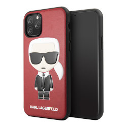 Чехол Karl Lagerfeld PU Leather Iconic Karl Hard для iPhone 11 Pro Max, красный