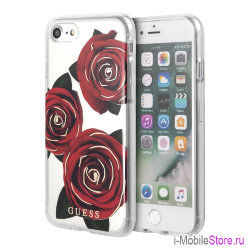 Чехол Guess Flower desire Transparent Hard для iPhone 7/8/SE 2020, Red Roses