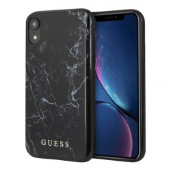 Чехол Guess Marble Design Hard для iPhone XR, черный