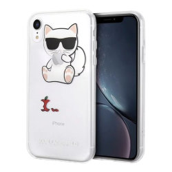 Чехол Karl Lagerfeld Fun Choupette eaten apple для iPhone XR
