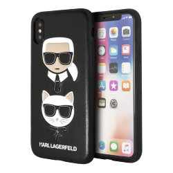 Чехол Karl Lagerfeld Karl and Choupette Hard для iPhone XS Max, черный