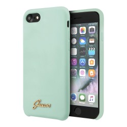 Чехол Guess Liquid Silicone Gold Metal logo для iPhone 7/8/SE 2020, mint green