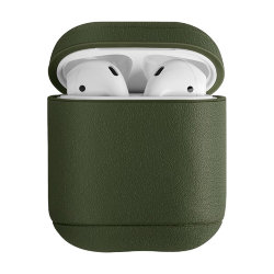 Чехол Uniq Terra Genuine Leather для AirPods, зеленый