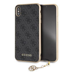 Чехол Guess 4G Charms Hard для iPhone XS Max, серый