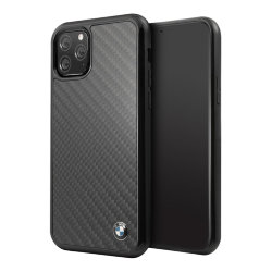 Чехол BMW Signature Real Carbon Hard для iPhone 11 Pro, черный