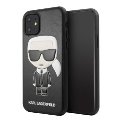 Чехол Karl Lagerfeld PU Leather Iconic Karl Hard для iPhone 11, черный
