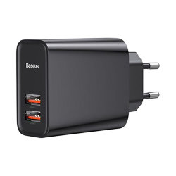 Сетевая зарядка Baseus Speed Dual USB Quick Charge 3.0