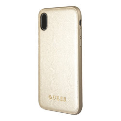 Чехол Guess Iridescent Hard для iPhone XS Max, золотой