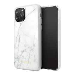 Чехол Guess Marble Collection Hard для iPhone 11 Pro, белый