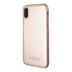 Чехол Guess Iridescent Hard для iPhone XS Max, розовый