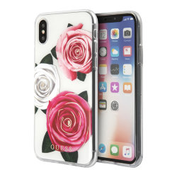 Чехол Guess Flower desire Transparent Hard для iPhone XS Max, Tricolor Roses