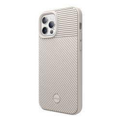 Чехол Elago CUSHION silicone case для iPhone 12 Pro Max, бежевый